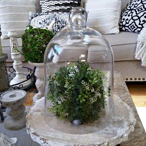GORGEOUS Massive FARMHOUSE Glass CLOCHE